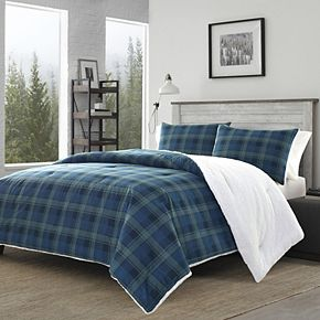 Eddie Bauer Monroe Plaid to Sherpa Comforter Set