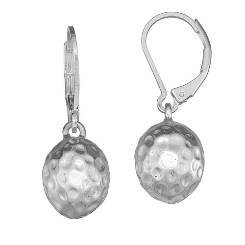 Dana Buchman Textured Ball Drop Earrings