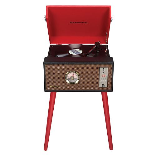 Studebaker Bluetooth Record Player Stand with Turntable