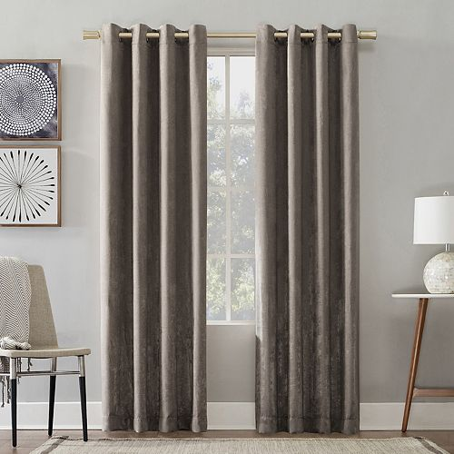 No 918 Chanson Brushed Velvet Grommet Window Curtain