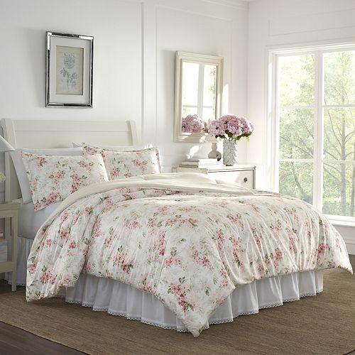 Laura Ashley Wisteria Floral Comforter Set