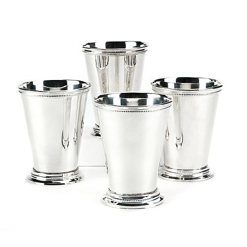 Set of 4 Mint Julep Silver-Plated Vase