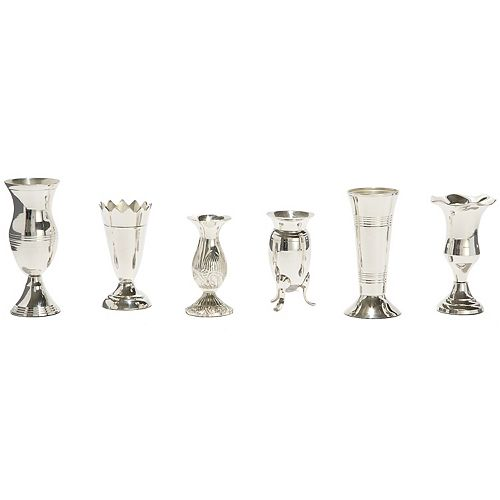 Queen Anne Set Of 6 Silver Vases