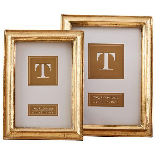 Set of 2 Gold Leaf Photo Frames