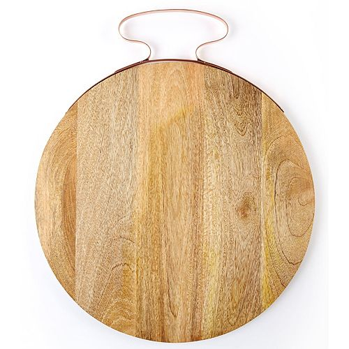 Set of 2 Wooden Serving Trays Boards
