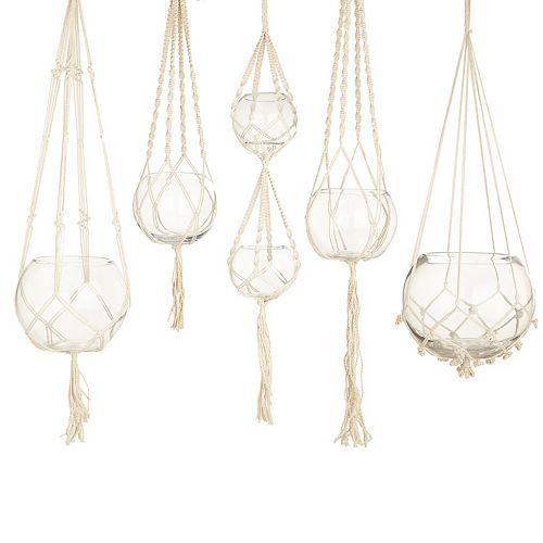 Set of 5 Macrame Plant Hangers
