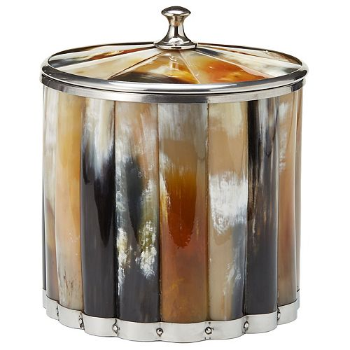 Genuine Horn Ice Bucket with Lid