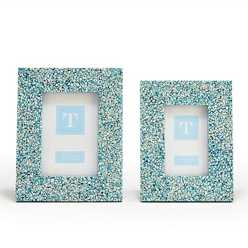 Set of 2 Blue Tones MOP Photo Frames