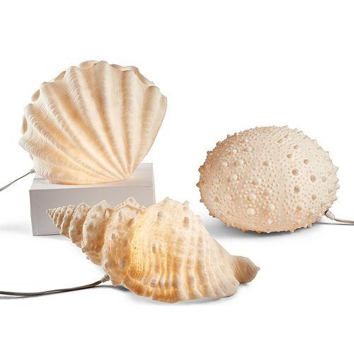 Sea Life Set of 3 Decorative Lamps