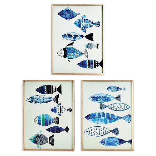 Set of 3 Fish Wall Art