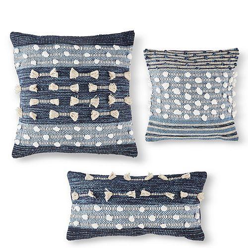 Set of 3 Handloom Decorative Pillows