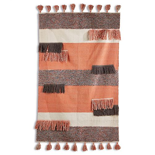 Topanga Woven Rug with Fringe and Tassels
