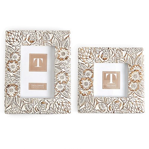 Set of 2 Blooming Floral Photo Frames