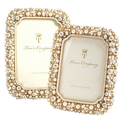 Set of 2 Jeweled Photo Frames