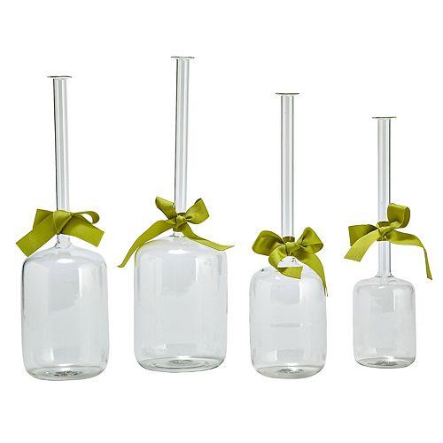 Set Of 4 Jug Vases with Ribbon