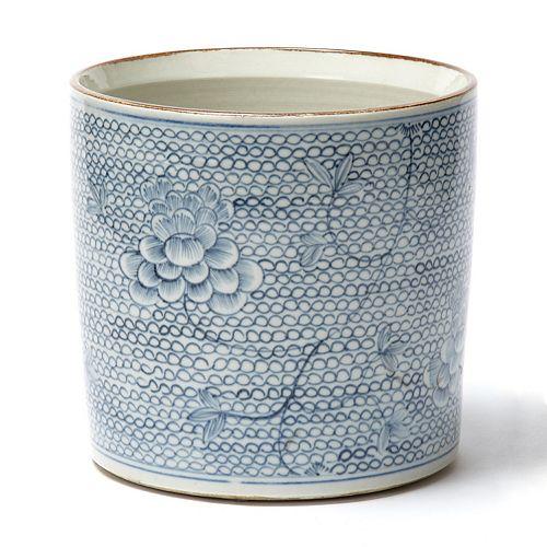 Chrysanthemum Flower Pattern Vase Planter