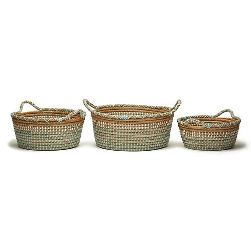 Set of 3 Phuket Seagrass Baskets