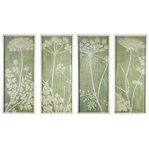 Set of 4 Botanical Wall Art
