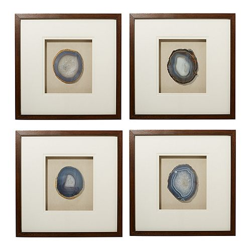 Geode Framed Wall Art 4-Piece Set