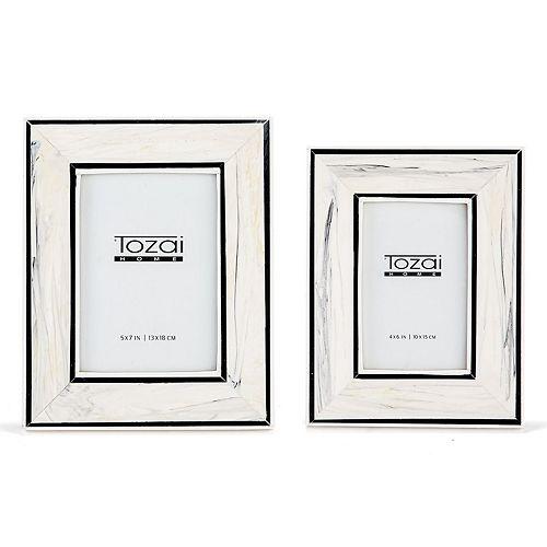 Set of 2 Black and White Photo Frames