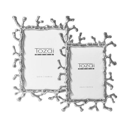 Silver Coral Set of 2 Photo Frames