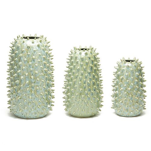 Ceramic Spikes Set of 3 Vases