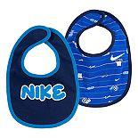 Baby Boy Nike Assorted Blue Bibs (2-pack)