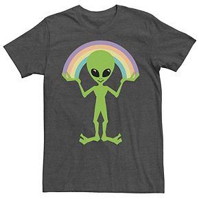 Men's Alien Rainbow Graphic Tee