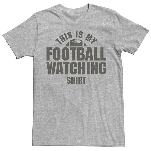 Men's This Is My Football Watching Shirt Graphic Tee