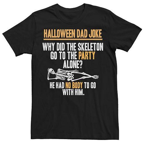 Men's Dad Joke Skeleton Graphic Tee
