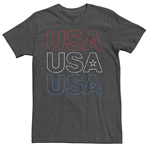 Men's Red White & Blue USA Graphic Tee
