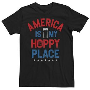 Men's America Is My Hoppy Place Graphic Tee