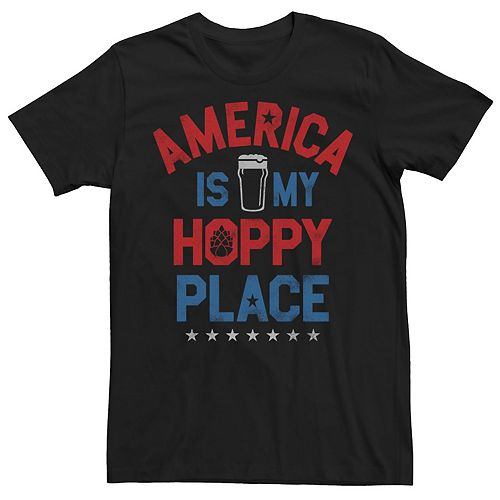 Men's America Is My Hoppy Place Graphic Tee