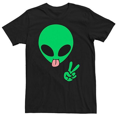 Men's Aliens Peace Graphic Tee