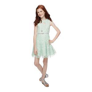 Girls 7-16 & Plus Size Knitworks Lace Skater Dress Set