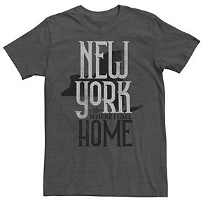 Men's New York Is Where I Call Home State Silhouette Tee