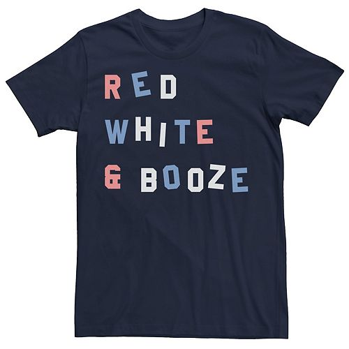 Men's Red White & Booze Graphic Tee
