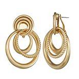 Dana Buchman Gold Knot Doorknocker Earrings