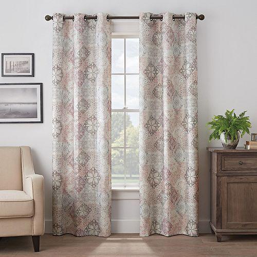 Eclipse Martina Medallion Absolute Zero 100% Blackout Window Curtain