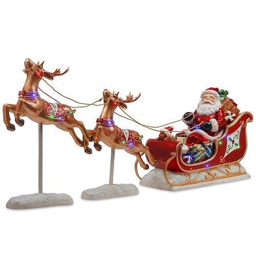 National Tree Co. Santa's Sleigh & Reindeer
