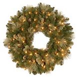 National Tree Co. 24-in. Carolina Pine Wreath & Clear Lights
