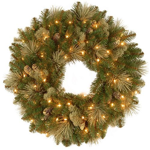National Tree Co. 30-in. Carolina Pine Wreath & Battery Operated LED Lights