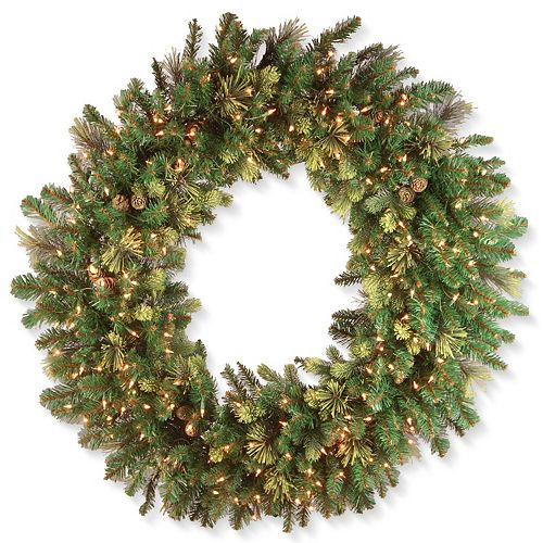 National Tree Co. 48-in. Carolina Pine Wreath & Clear Lights