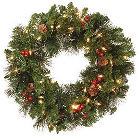 National Tree Co. 20-in. Crestwood Spruce Wreath & Clear Lights
