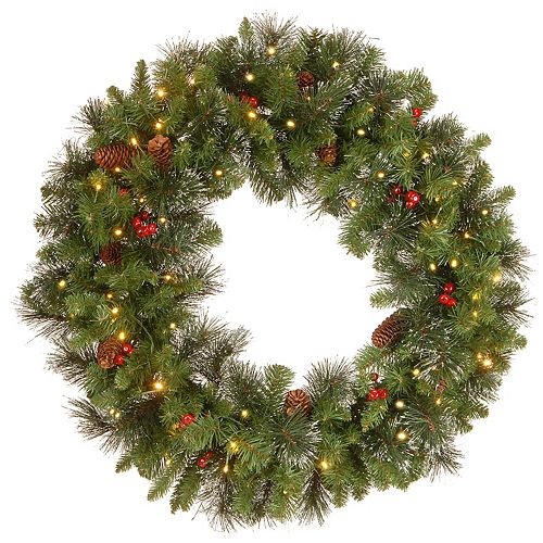 National Tree Co. 30-in. Crestwood Spruce Wreath & Clear Lights