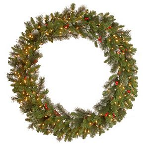 National Tree Co. 48-in. Crestwood Spruce Wreath & Clear Lights