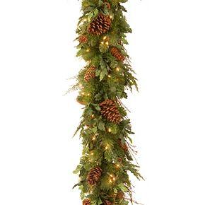 National Tree Co. 6-ft. Juniper Mix Pine Garland & Warm white LED Lights