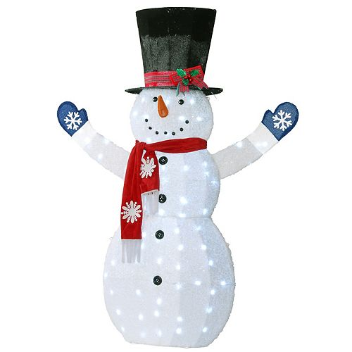 National Tree Co. 72-in. Snowman Decoration & White LED Lights