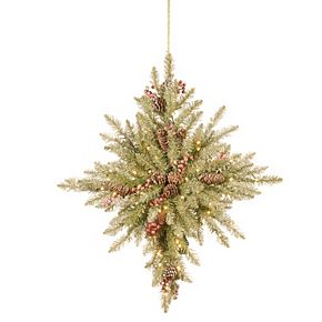 National Tree Co. 32 -in. Snowy Dunhill Fir Bethlehem Star & Battery Operated LED Lights