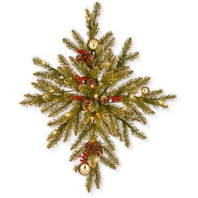 National Tree Co. 32-in. Glittery Gold Dunhill Fir Bethlehem Star & Battery Operated LED Lights